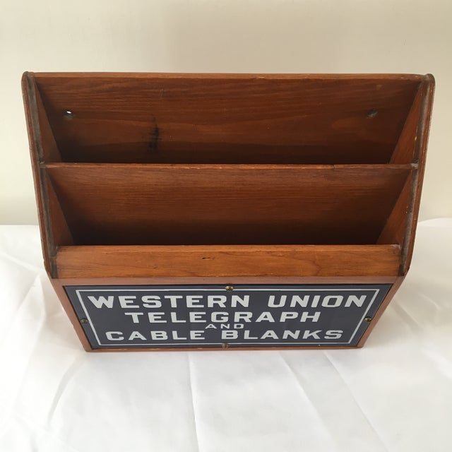 Industrial Western Union Telegraph & Cable Blanks Box For Sale - Image 3 of 12