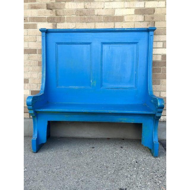 Blue Bohemian Deacon's Bench - Image 2 of 6