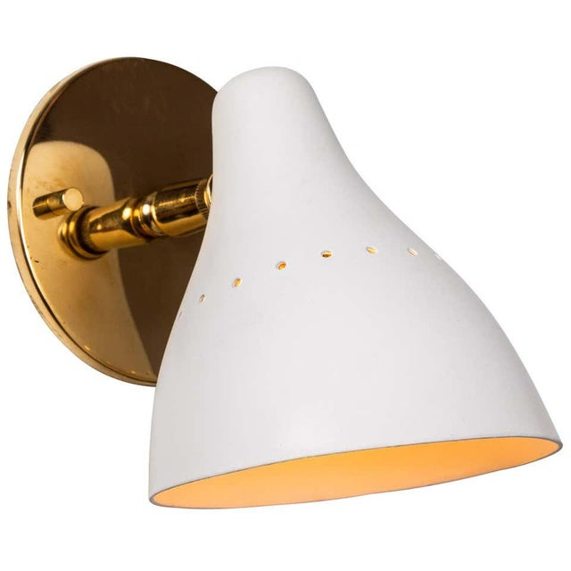 1950s Gino Sarfatti White Articulating Sconce for Arteluce For Sale - Image 13 of 13