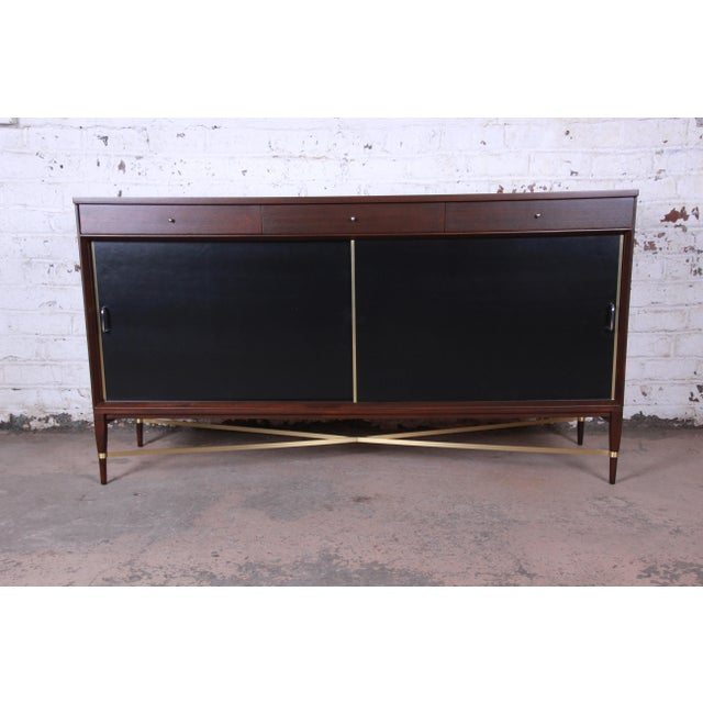 Paul McCobb Calvin Group Mahogany and Brass Credenza For Sale - Image 13 of 13