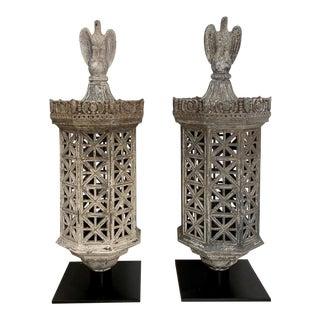 Pair of Gate Post Lanterns, American Circa 1870 For Sale