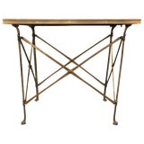 Image of 20th Century Campaign Style Side Table With Mirrored Top For Sale