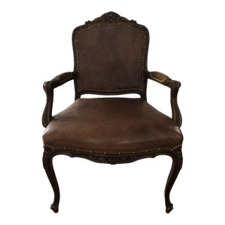 Brown Leather Chair For Sale