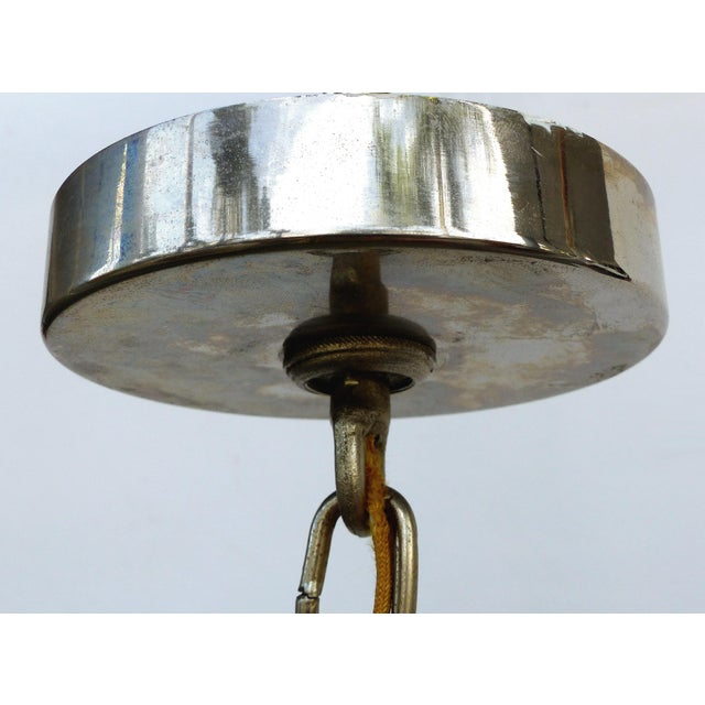 Italian Mid-Century Modern Venini Blown Glass Two Tiered Chandelier For Sale - Image 9 of 12