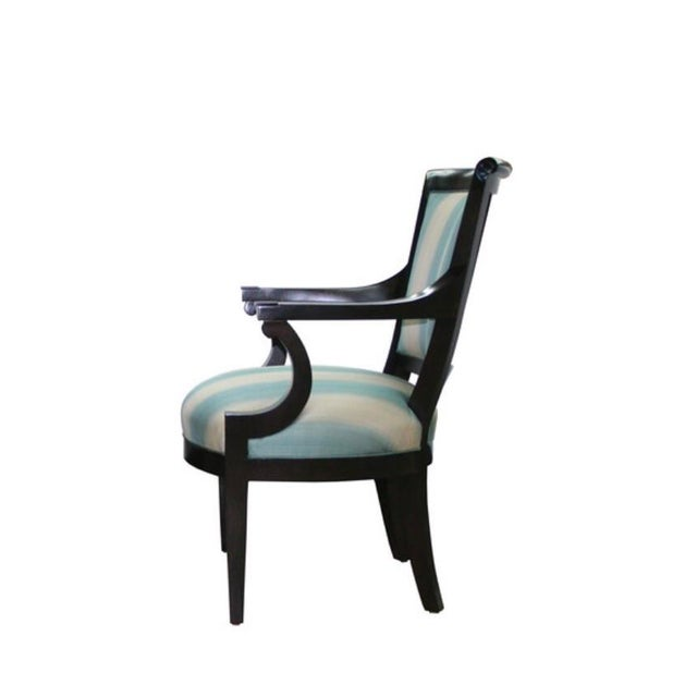 Mid 20th Century interpretation by Truex American Furniture of a Directoire armchair. Perfect for dining, desk, or...