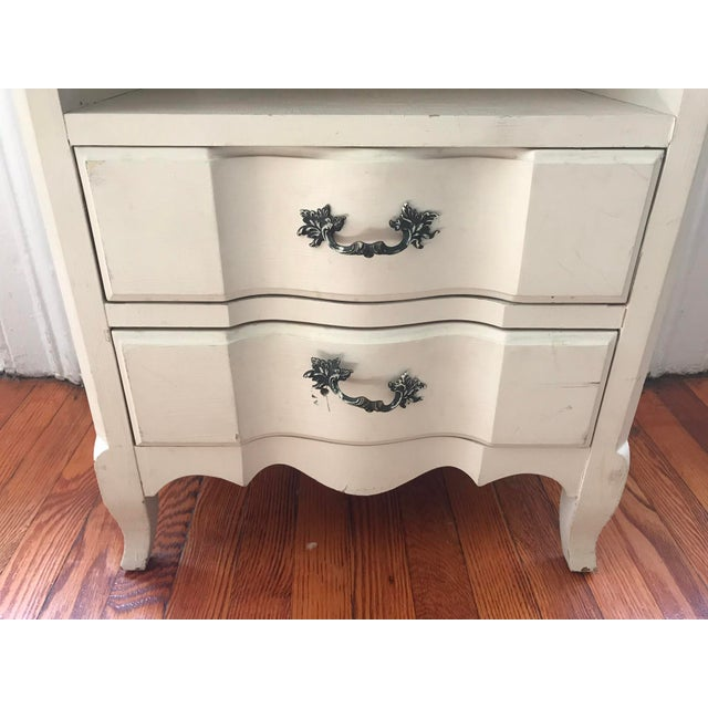 1960s 1960s Vintage French Inspired Distressed Nightstand For Sale - Image 5 of 6
