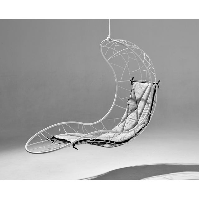 Studio Stirling Recliner Hanging Swing Chair For Sale - Image 4 of 10