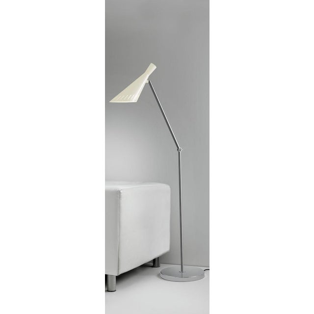 Metro Ivory With Polished Chrome Floor Light For Sale - Image 4 of 5