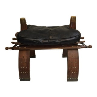 Large Camel Saddle Footstool For Sale