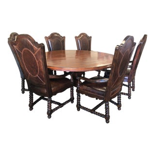 Traditional Maitland Smith Dining Set - 7 Pieces For Sale