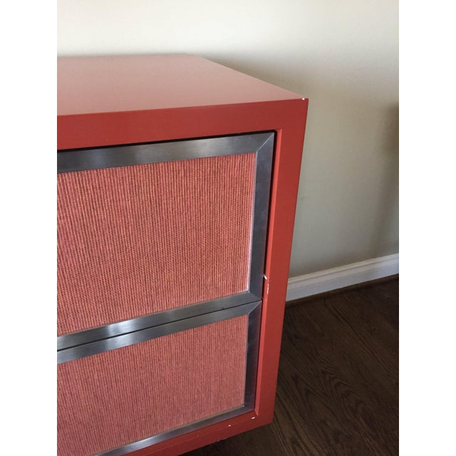 Custom Modern Red Credenza For Sale - Image 4 of 7