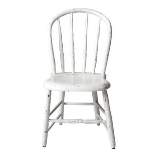 Antique Bow Back Windsor Farmhouse Spindle Back Dining Chair For Sale
