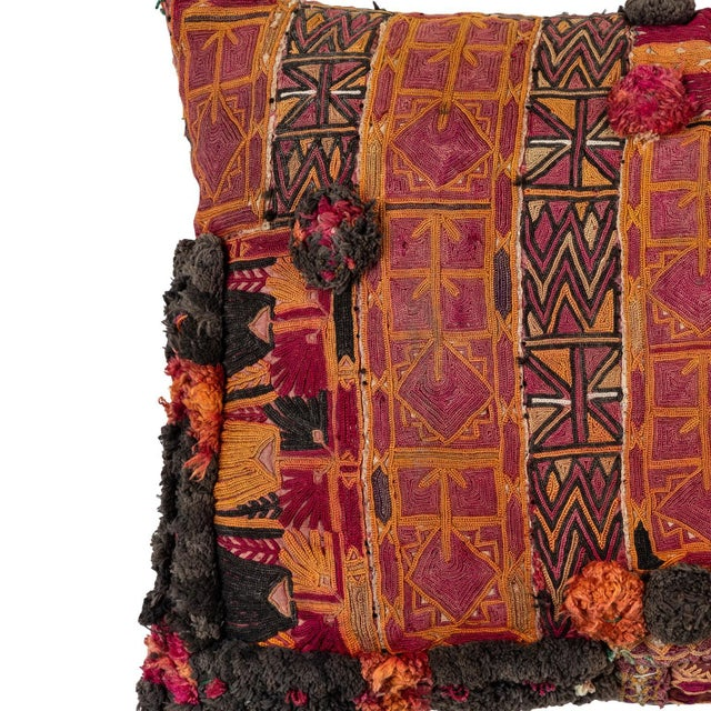 Asian Afghani Pashtun Pillow For Sale - Image 3 of 5