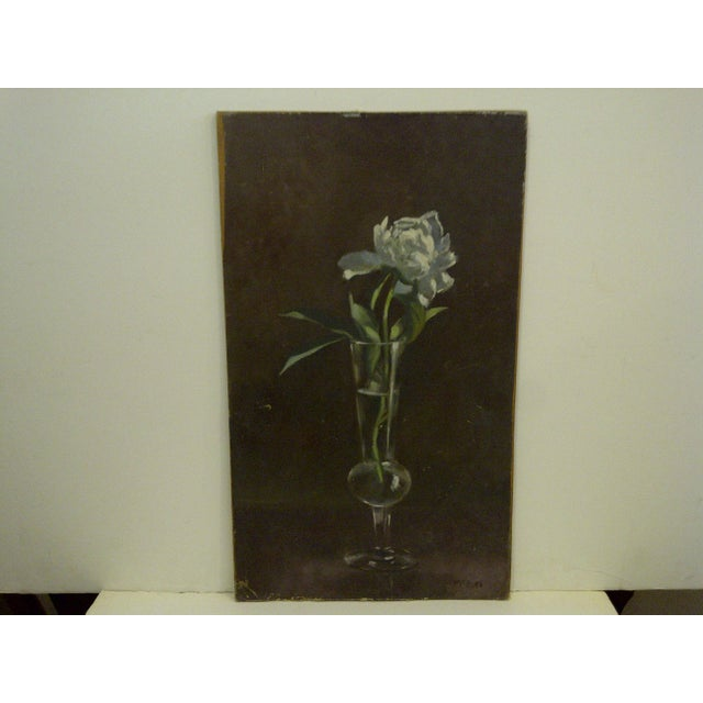 """An original painting by Frederick McDuff, titled """"The Flower"""". Frederick McDuff was one of America's foremost contemporary..."""