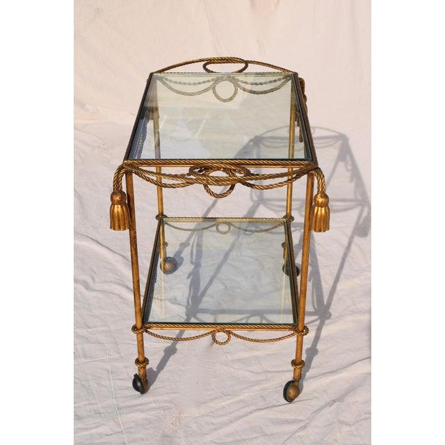 Gold Italian Gilt Bar Cart For Sale - Image 8 of 11