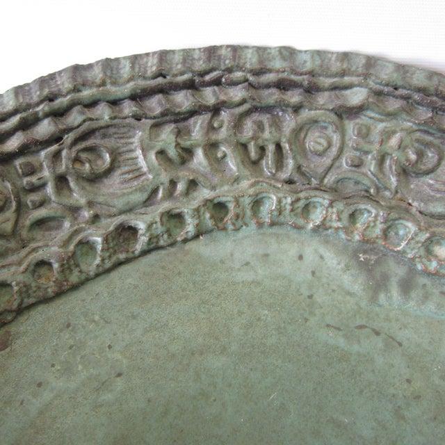 Large Ceramic Green Bowl - Image 5 of 11