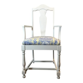 Fiddleback Chair Antique White For Sale