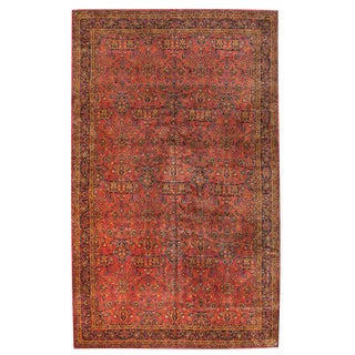 Exceptional Extremely Finely Woven Oversize Persian Kashan Carpet For Sale
