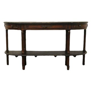 20th Century Traditional Guildmaster Demilune Console Table For Sale