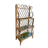 Image of 1970s Rattan Art Nouveau Thonet Style Bookcase For Sale