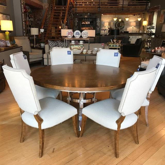 This dining set was a hot item at the most recent furniture market in High Point, NC and I was able to snag the sample...