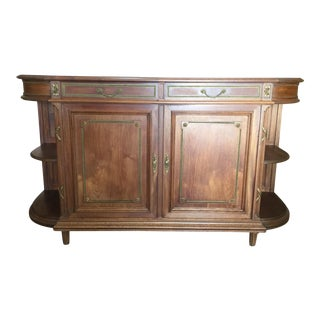 Louis XVI-Style Credenza With Marble For Sale