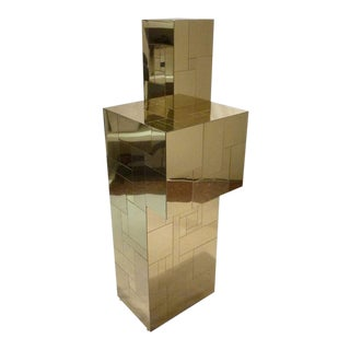 Paul Evans for Directional Brass Cityscape Pedestal For Sale