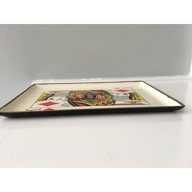 1960s Vintage Snack Trays in Playing Card Shapes - Set of 4 For Sale - Image 11 of 11