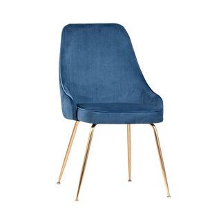 Blue Velvet Dining Chair For Sale