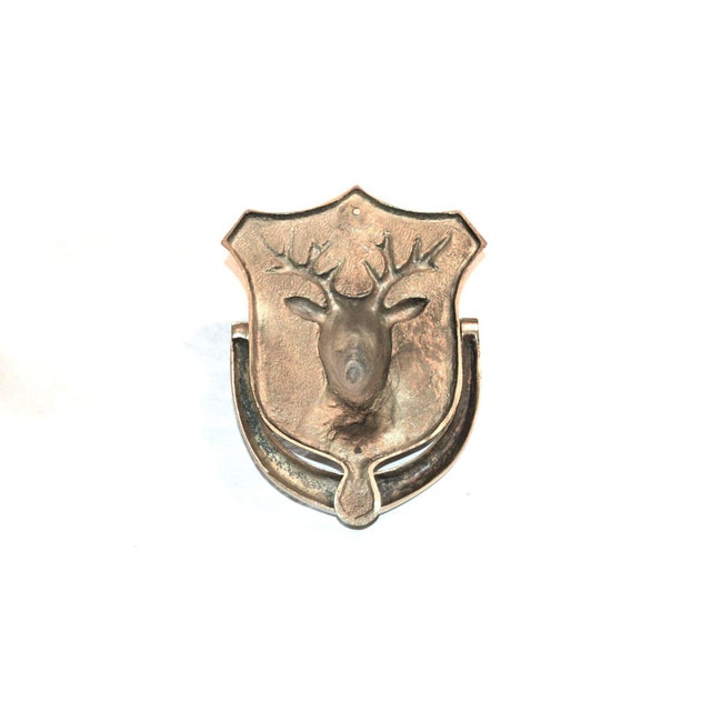 Brass Stag Brass Door Knocker For Sale - Image 7 of 10
