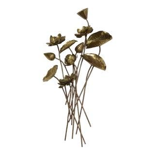 Large Brass Floral Bouquet For Sale