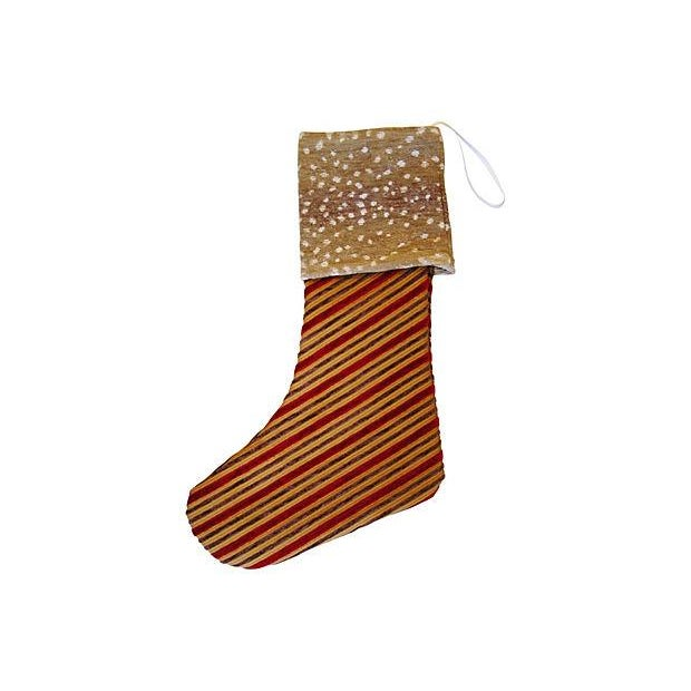 Christmas Stocking with Brass Medallion - Image 3 of 4