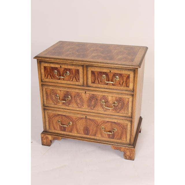 Georgian Style Oyster Burl Chest of Drawers For Sale - Image 12 of 12
