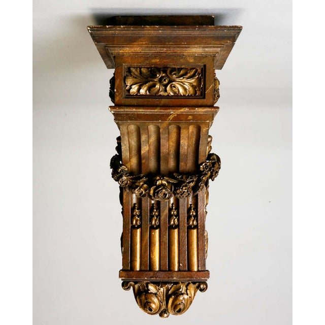 Large French Carved Wood and Gilded Corbel - Image 3 of 6