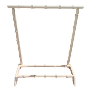 Vintage Hollywood Regency Faux Bamboo Towel Display Rack For Sale