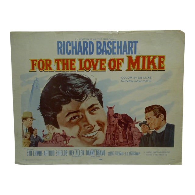 """1960s Vintage Movie Poster """"For the Love of Mike"""" by Richard Basehart For Sale"""