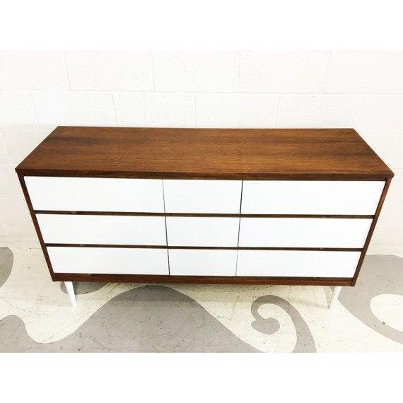 Two-Tone Mid-Century Modern Dresser - Image 3 of 6