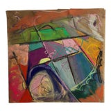 Image of Farmers Field Original Abstract by Erik Sulander 12 X 12 For Sale