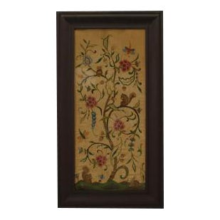 American Country style (mid-19th Cent) mahogany framed embroidery
