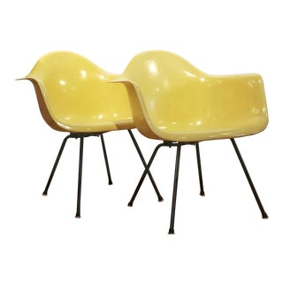 1950s Vintage Charles & Ray Eames L. A. X. Lounge Chairs for Herman Miller- a Pair For Sale