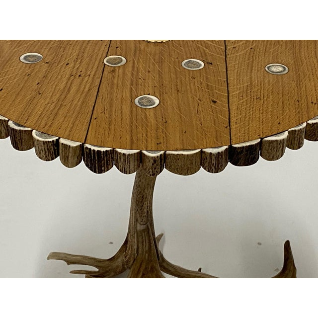 Contemporary Organic Modern Antler Side Table For Sale - Image 3 of 13