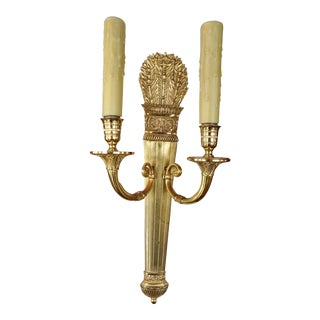 Pair of 19th Century Bronze Sconces For Sale