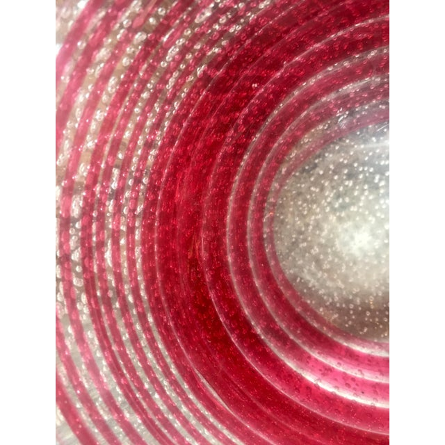 Red 1950s Italian Barbini Murano Deep Red Art Glass Bowl For Sale - Image 8 of 9