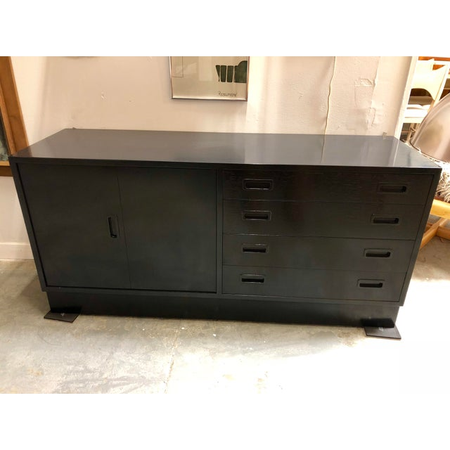 Black Mid Century Black Lacquered Danish Cabinet For Sale - Image 8 of 8