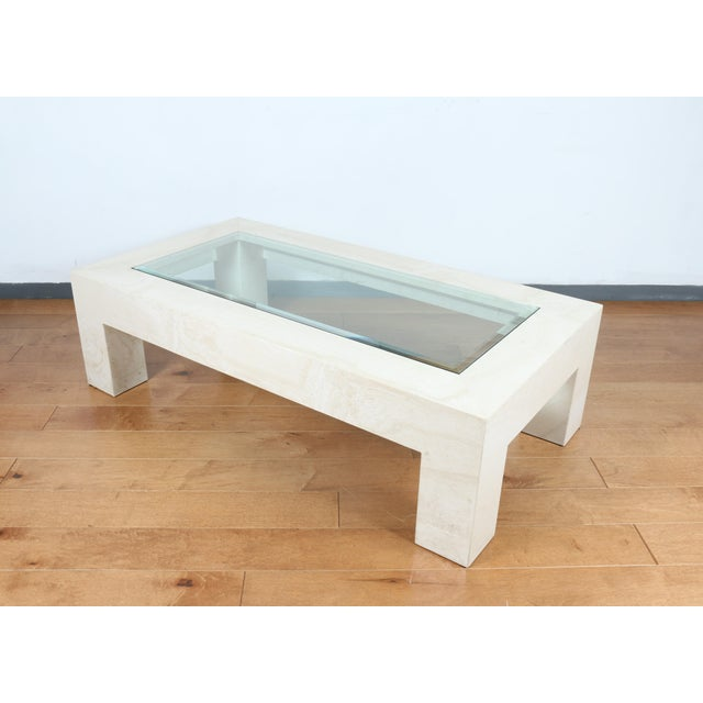 Mid-Century Modern Mid Century Travertine Coffee Table For Sale - Image 3 of 8