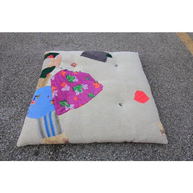 Vintage Turkish Hemp Floor Pillow - Image 2 of 5