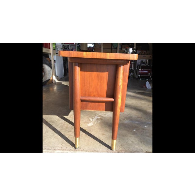 Teak 1960s Mid Century Modern Buffet Credenza Storage Table For Sale - Image 7 of 11