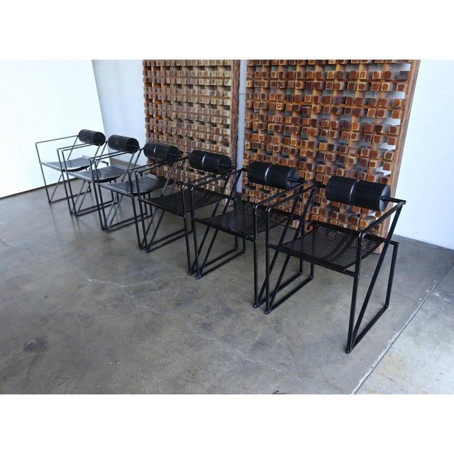 """Bauhaus 1982 """"Seconda 602"""" Armchairs by Architect Mario Botta for Alias - Set of 6 For Sale - Image 3 of 13"""