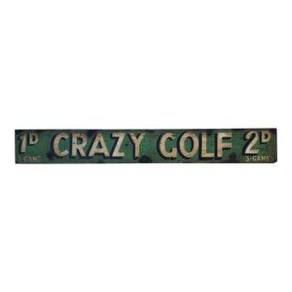 Old English Crazy Golf Sign For Sale
