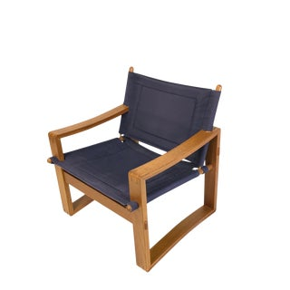 1960s Danish Modern Borge Jensen & Sonner Safari Sling Armchair For Sale